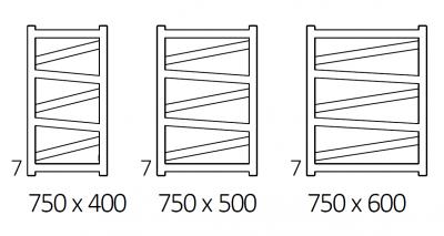 VIPERA grzejnik łazienkowy 500x990 CZARNY MAT