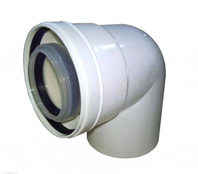 ALMEVA-LIK kolano spalinowe koncentr. 80/125 87°