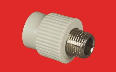 Złączka prosta PP 32 x 1'  z gwintem metalowym zewnętrznym