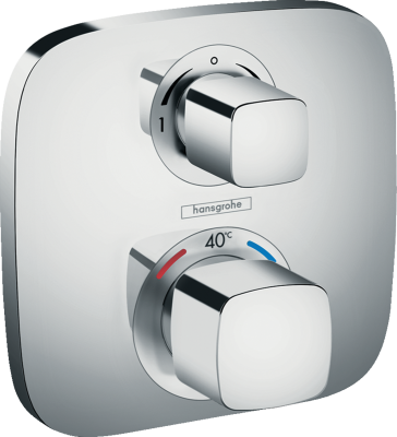HANSGROHE Ecostat E Bateria termostatyczna do 2 odbiorników, montaż podtynkowy, element zewnętrzny