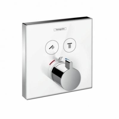 HANSGROHE ShowerSelect Glass. Bateria termostatyczna do 2 odbiorników