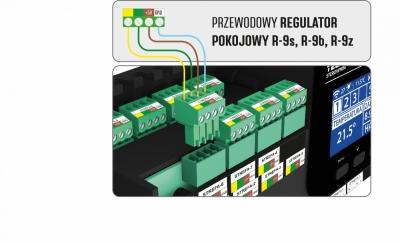 TECH Sterowniki do ogrzewania podłogowego L-9 R Przewodowo-bezprzewodowy sterownik siłowników termostatycznych (8 sekcji)