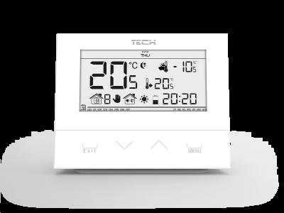 TECH ST-292 v2 Regulator pokojowy dwustanowy BEZPRZEWODOWY (szklany panel przedni 3mm) , chwilowe podświetlenie